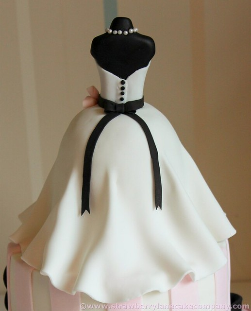 Wedding Gown Cakes: Wedding Dress Bridal Shower Cake For Kate