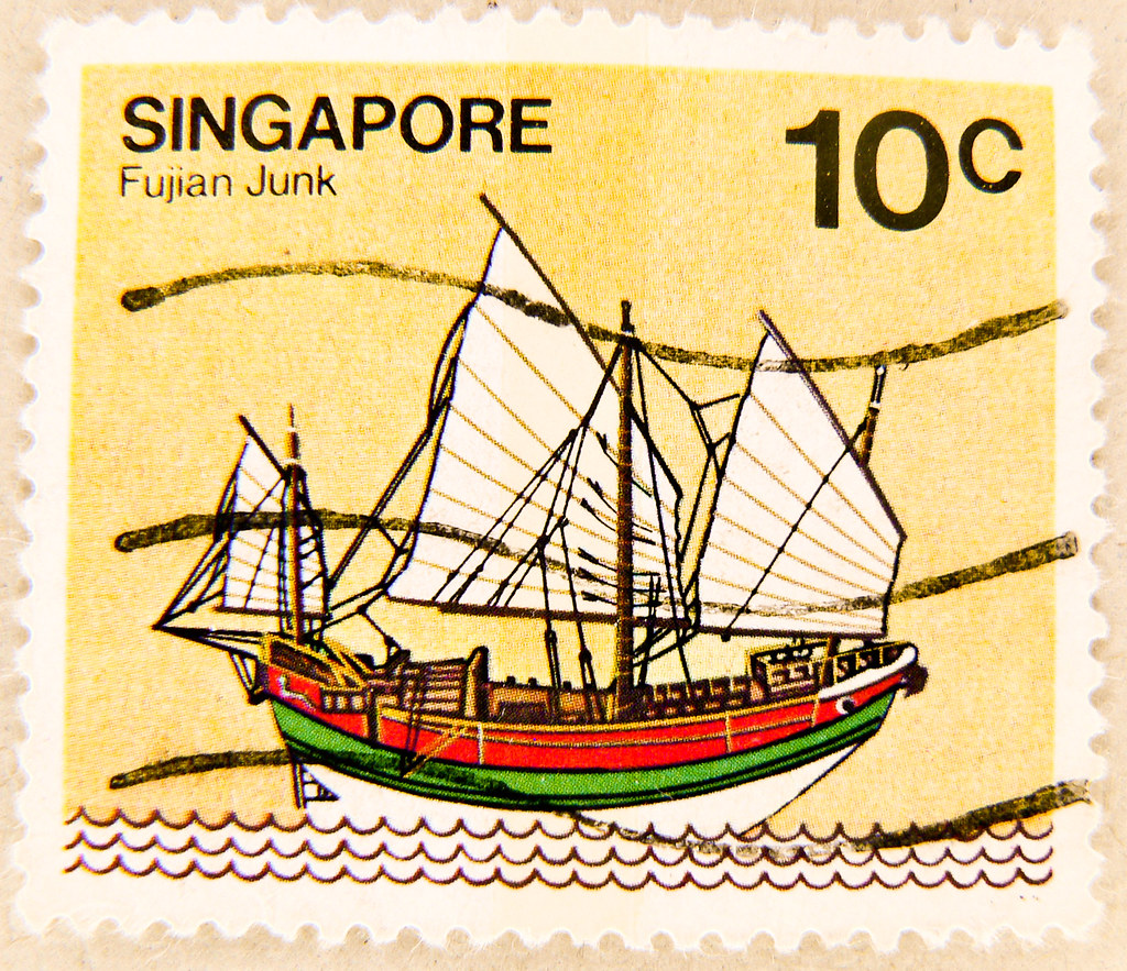stamp singapore 10c ship fujian junk timbre singapour stam flickr free camera clipart for logo free camera clipart for logo
