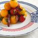 Salade de melon, tomates, magret fumé