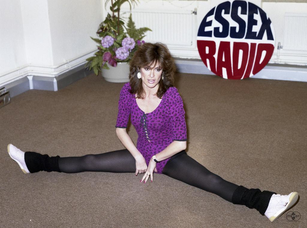 Jackie Genova Of Tv Am Visits Essex Radio 1983 Jackie