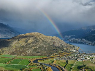 Rainbow Over Queenstown | by Peter Sundstrom
