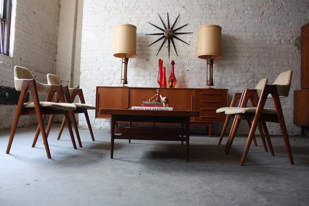 Astounding Danish Mid Century Modern Dyrlund Teak Credenza