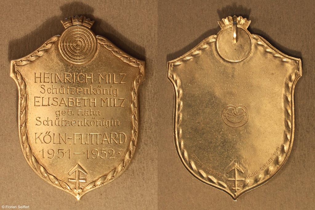 Koenigsschild Flittard von milz heinrich aus dem Jahr 1951