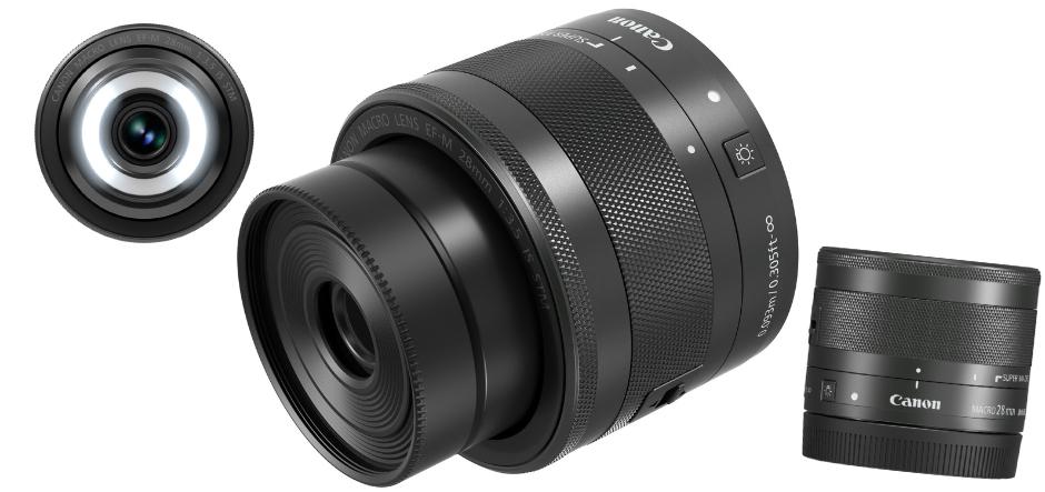 Canon iepazīstina ar pirmo AF objektīvu ar iebūvētu Macro Lite  - EF-M 28mm f/3.5 Macro IS STM