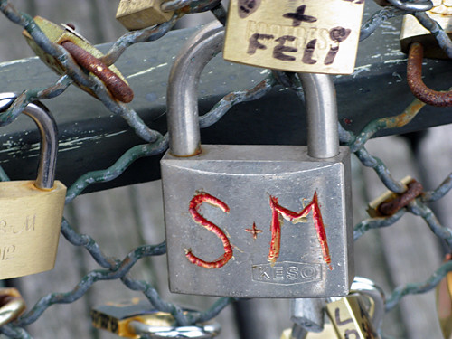 s & m - Pont des Arts, Paris | by David Lebovitz