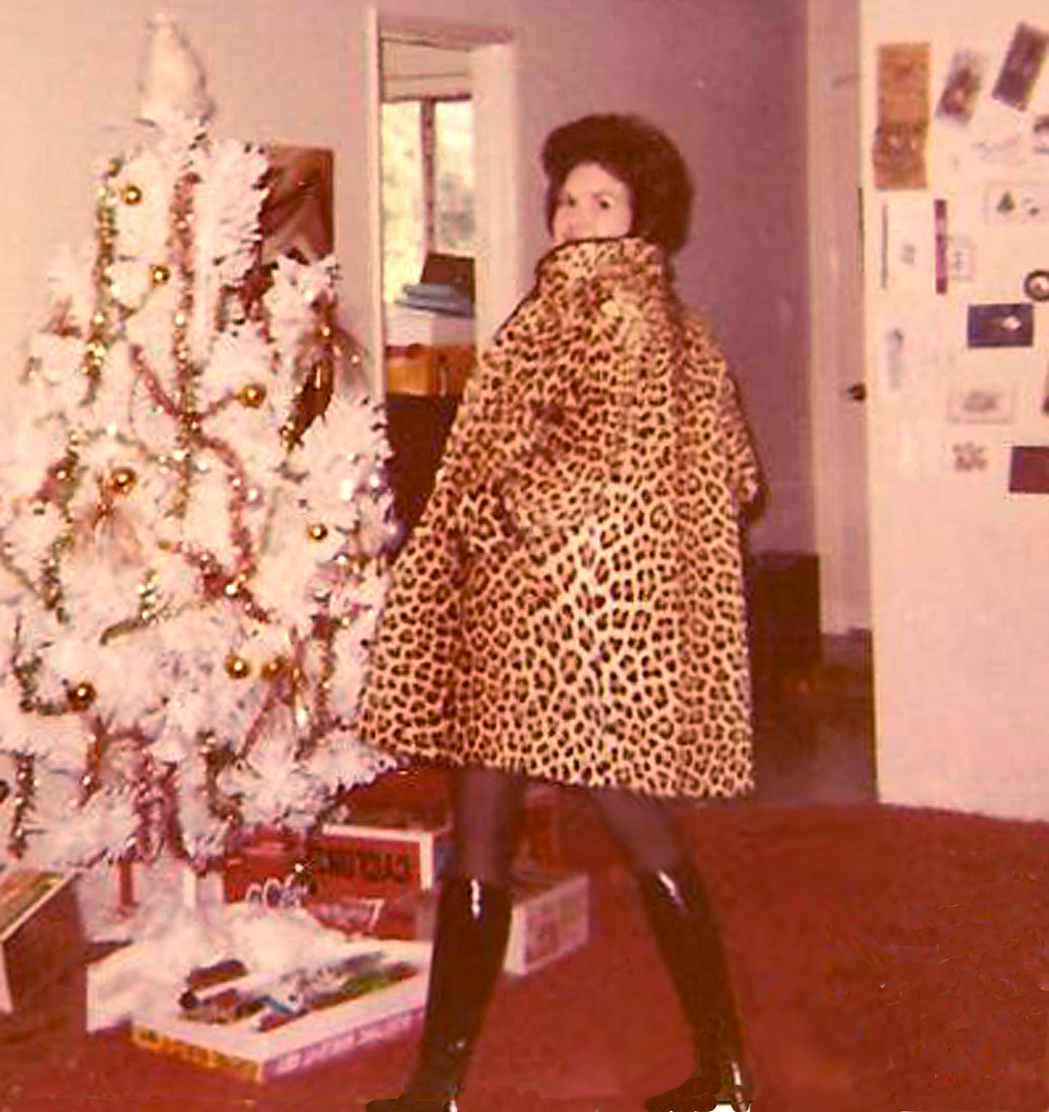 Me Modeling A Genuine Cheetah Coat At Xmas Oh I Know It