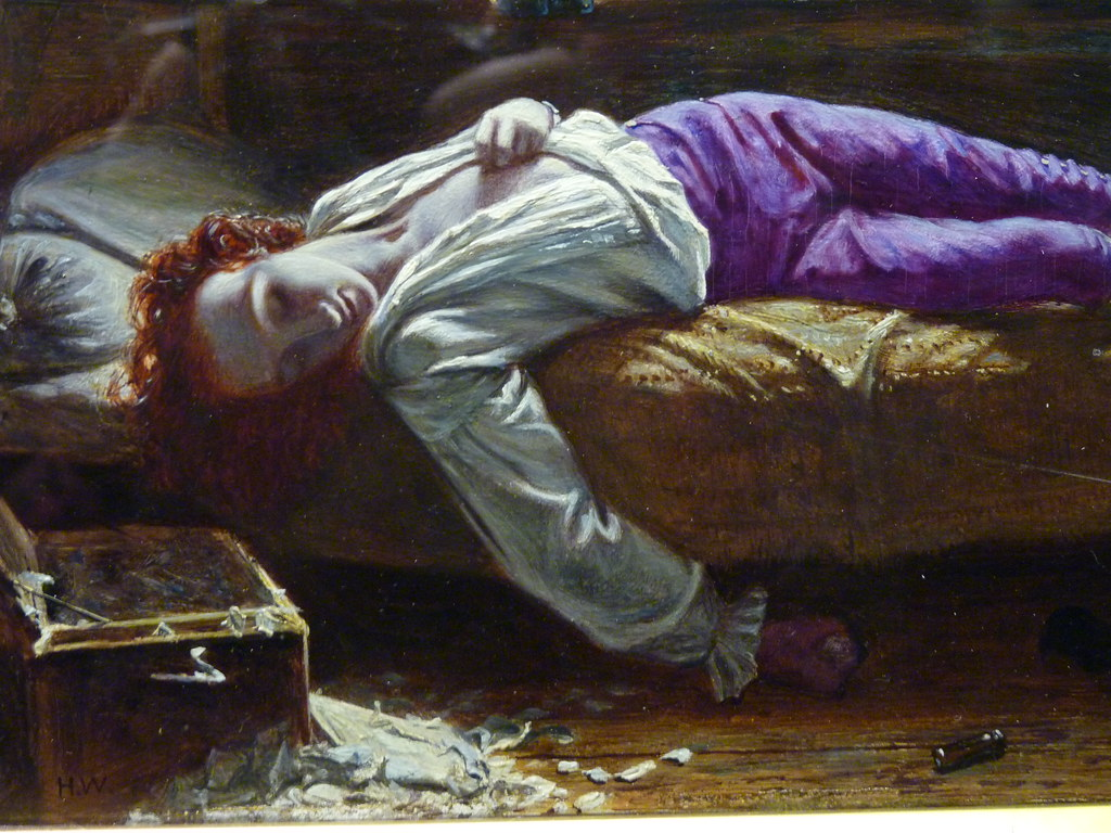 birmingham city art gallery death of chatterton wallis det