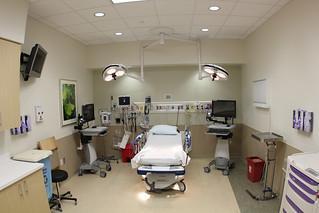 New UPMC East: Emergency patient room