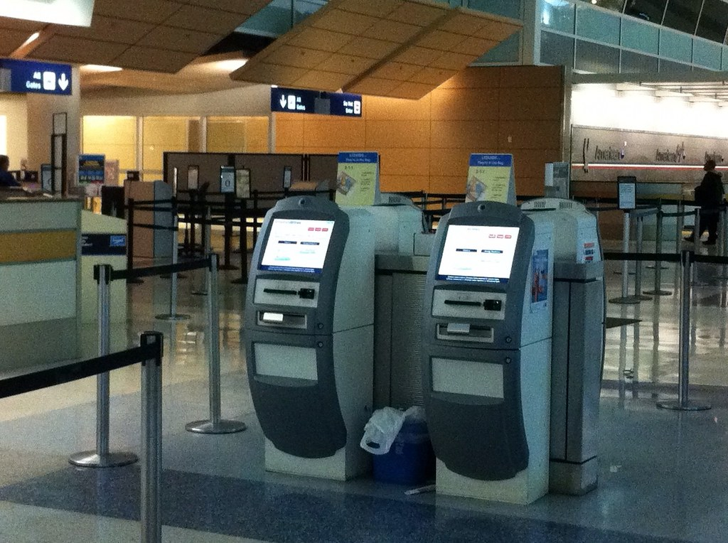 American Airlines Check In Kiosks Photo i047 by Grant Wick ... American Airlines Check In