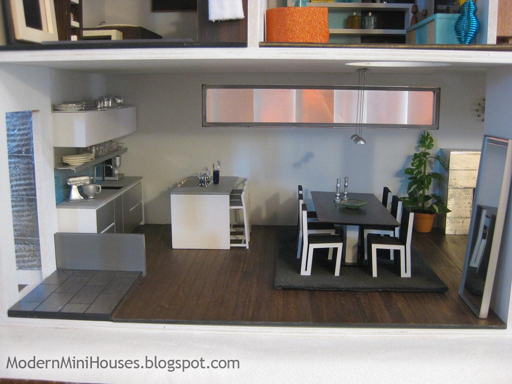 Modern dollhouse kitchen all modern mini houses flickr for Modern miniature house designs