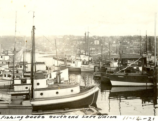 Fishing boats lake union seattle 1921 flickr photo for Fishing boats seattle