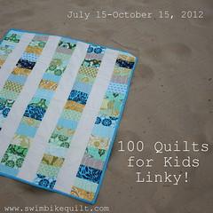 100 Quilts 4 Kids Linky by katie@swimbikequilt