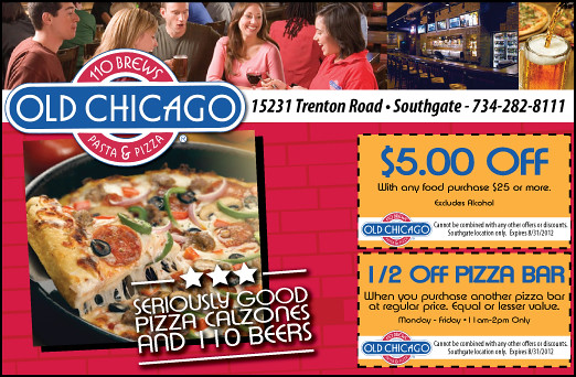 Old chicago coupons