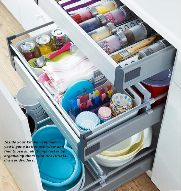 Organized ikea kitchen drawer flickr photo sharing - Rangement tiroir cuisine ikea ...