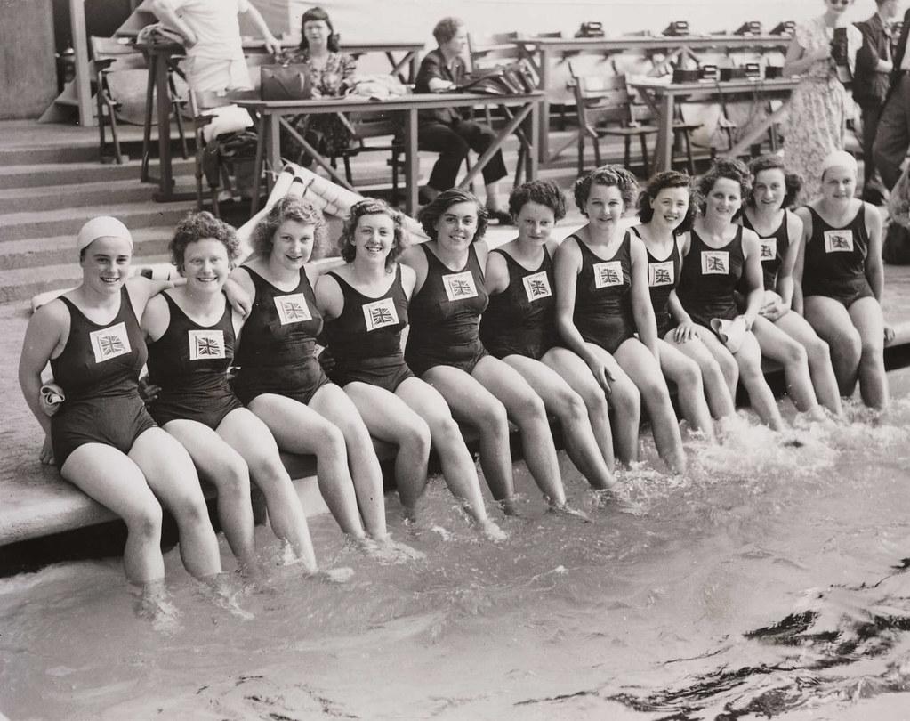 British Women's Olympic swimming team, London, 1948. | Flickr