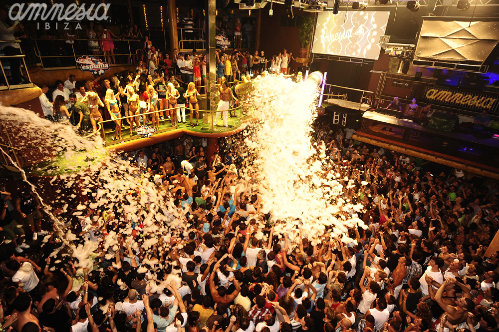 Amnesia Ibiza foam party