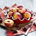 Summer fruit: cherries and peaches
