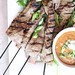 Grilled Steak Satay with Coconut Peanut Dipping Sauce