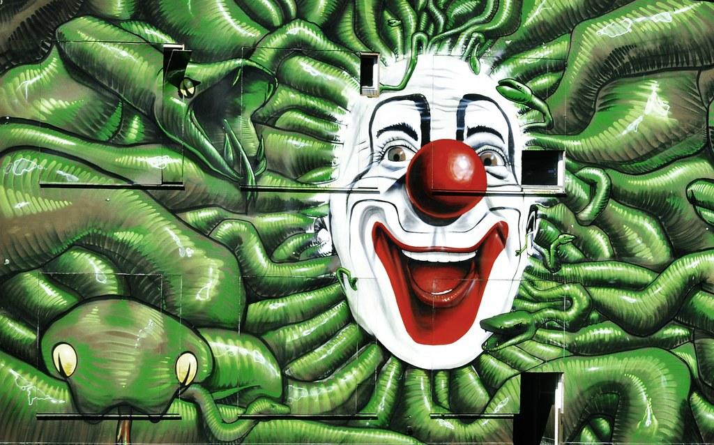 clown 39 s house diese ca 150 quadratmeter gro e wand entst flickr. Black Bedroom Furniture Sets. Home Design Ideas