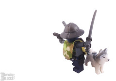 Cyberpunk Samurai and Dog by burningblocks