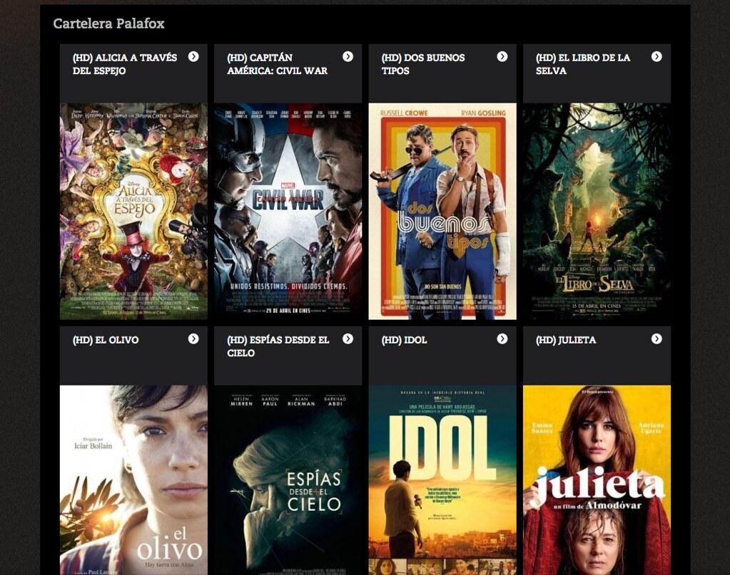 Cartelera de la web de cines palafox torresburriel - Cartelera cine de verano aguadulce ...