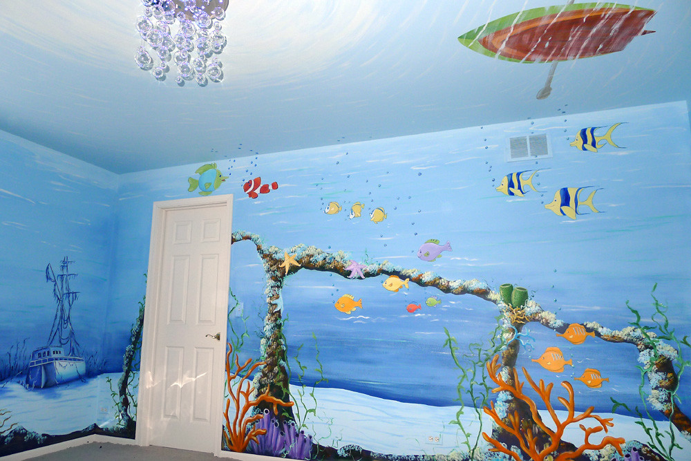 Underwater Baby Nursery Mural Painted The Ceiling And All Flickr