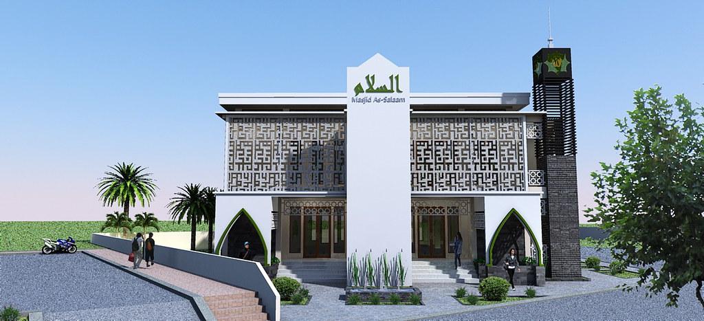 Tampak Arah Selatan Masjid As-Salaam | This photo belongs ...