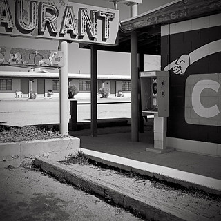 Motel, Restaurant and Telephone. Route 66, Truxton, Peach Springs, AZ 86434 | by Terrorkitten