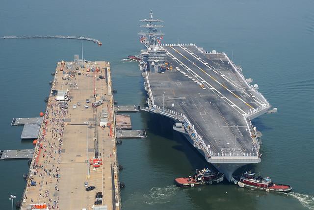 uss dwight d eisenhower departs naval station norfolk