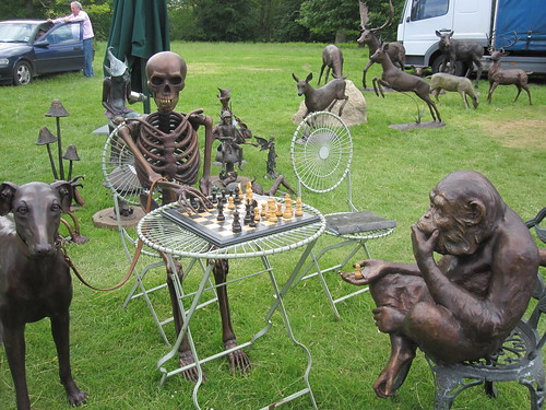 Death Playing Chess with Ape | by John of Witney
