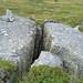 Giant cracked rock - vålådalen Sweden