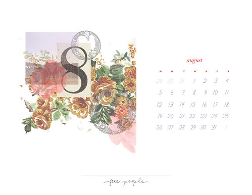 August Calendar - Horizontal | by FreePeopleFlickr