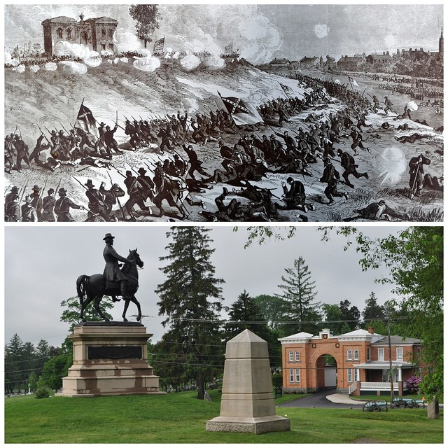 Cemetery hill gettysburg then amp now 1863 amp 2012 flickr photo