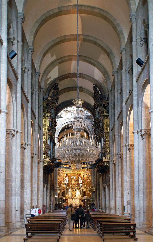Cathedral at santiago de compostela interior inside - Interior santiago de compostela ...