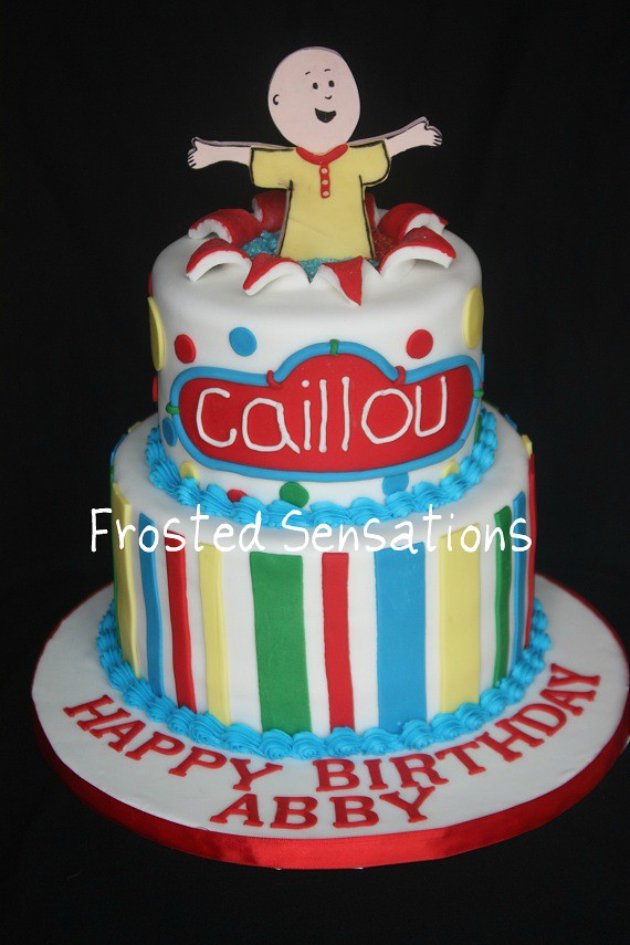 Caillou Cake Caillou Birthday Cake With A 2d Gumpaste