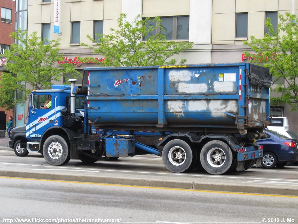 Allied Waste Garbage Truck Operated By Republic