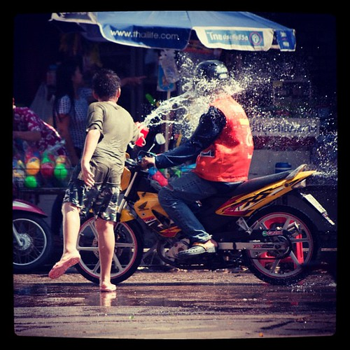 The neighbourhood kids are vicious! Can't go ten feet without getting completely drenched! Happy #Songkran indeed! | by ramny