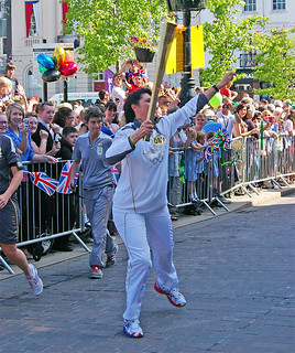 Ripon Olympic Torch Lena Conlin | by Dave Kilroy.