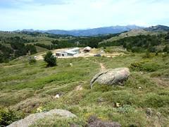 Arrivée aux bergeries de Croce (I Croci) sur le nouveau GR20 en 2012