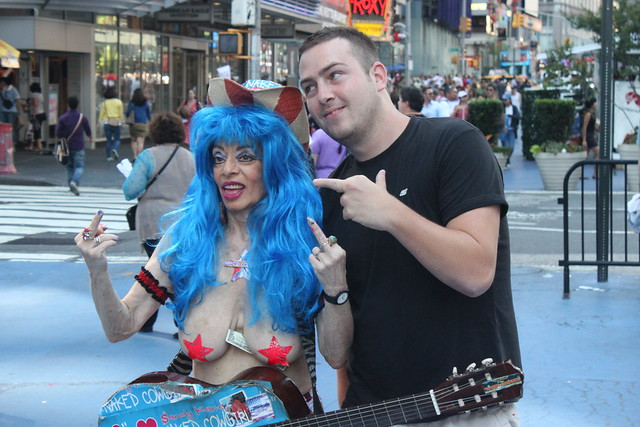 The Naked Cowgirl In Times Square With One Of Her Adoring -9866