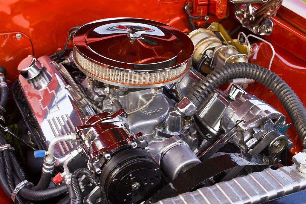 classic car engine in 1966 chevrolet chevelle photo dean flickr. Black Bedroom Furniture Sets. Home Design Ideas