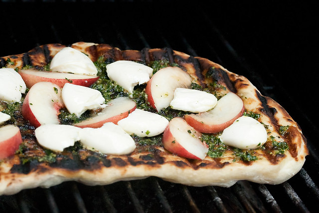 Grilled Peach Bocconcini Pizza | Explore Isabelle @ Crumb's ...