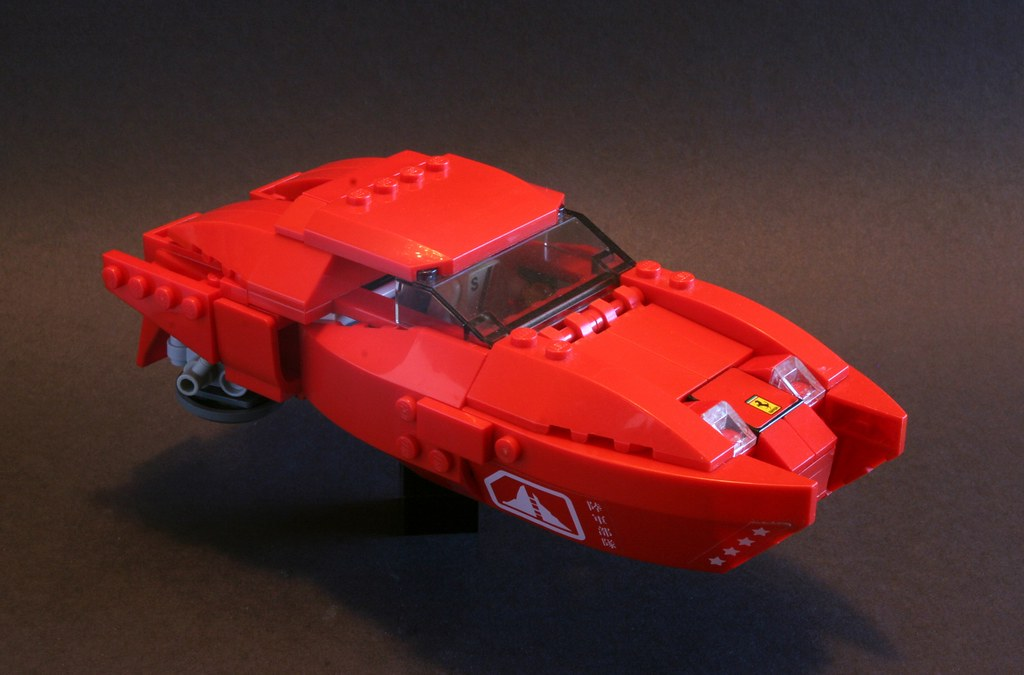 Ferrari Scicar Hover Vehicle Built For The Cyber City