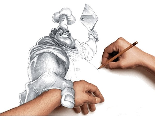 Amazing 3d hand drawings this is what you get when you for Amazing hand drawings