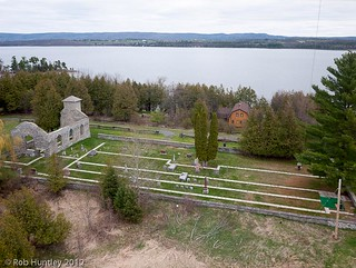Aerial Photograph of St. Mary's Church, Pinhey's Point Heritage Property and Park, Ottawa River. - Kite Aerial Photography (KAP) | by Rob Huntley Photography - Ottawa, Ontario, Canada
