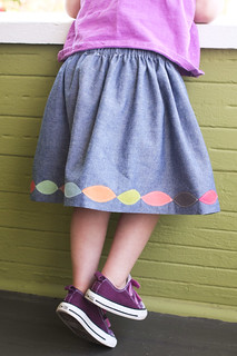 colored leaves skirt | by supergail