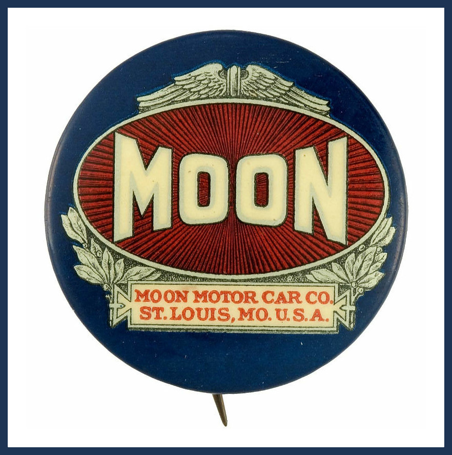 1 5 Inch Button Pin Handsome Moon Motor Car Company Logo F