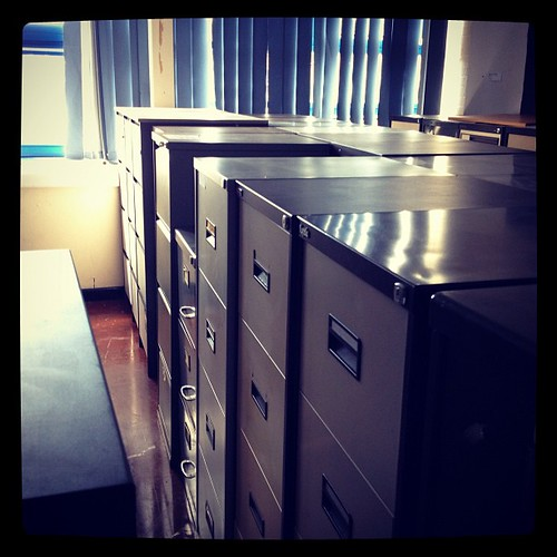 Unloved, unwanted filing cabinets, via Flickr