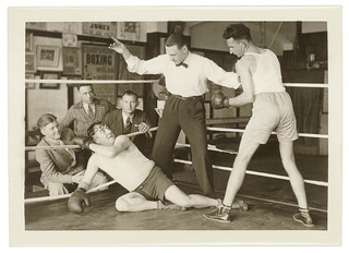 Boxers in a posed series, Dunlevy Gym, Sydney, between 1925-1940 / photographer Sam Hood | by State Library of New South Wales collection