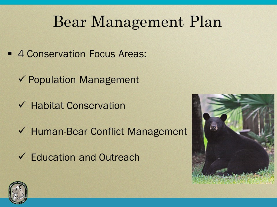 Bear management plan florida fish and wildlife flickr for California department of fish and wildlife jobs
